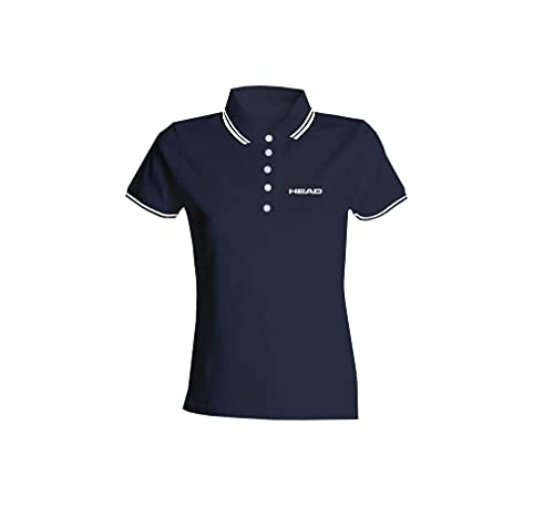 Head Swimming Team Polo - Camiseta para Mujer, Color Negro, Talla M