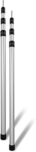 normani Outdoor Sports Aluminum Teleskop Zeltstange Aufstell-Stange Sützstange Verstellbar von 76-180 cm, 94-240 cm oder 116-300 cm Farbe 2 Stück Größe 76-180 cm
