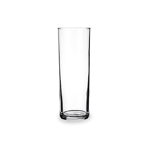 Set 24 vasos de vidrio resistente TUBO 30 CL ARC 60X165