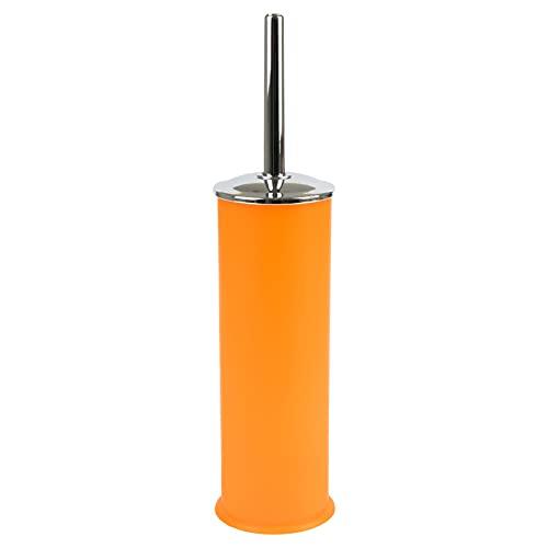 Escobillero de plástico de color mate con escobilla de metal cromado, fabricado en Italia, colores surtidos (naranja)