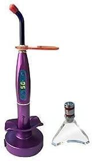 NSKI Cordless Wireless 5W LED Light Cure Lamp 1500mw/cm2 Blue Light with Whitening Tip Purple by Purple-Violet