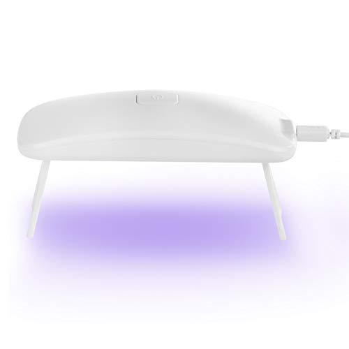 SANON UV LED Nagellampe 3W Nageltrockner Gel Nagellack Trockner Härtungslampe Mini Perlen/Sensor Maniküre Licht Werkzeug Mausform für UV Gel Nagellack (USB-Anschluss)