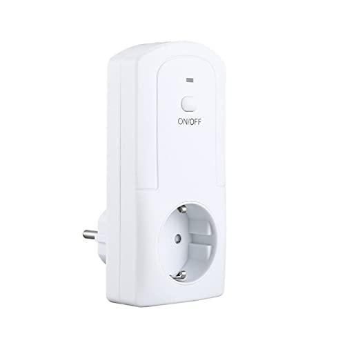 WiFi portátil Enchufe Inteligente Enchufe Inteligente Temperatura Humedad Temporizador Inteligente Control Remoto práctico - Blanco UE