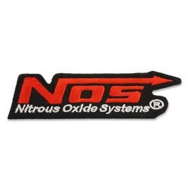 NOS Energy Drink Nitrous Oxide Systems Logo 10,0 cm Gesticktes Eisen auf Pfeilen Patch