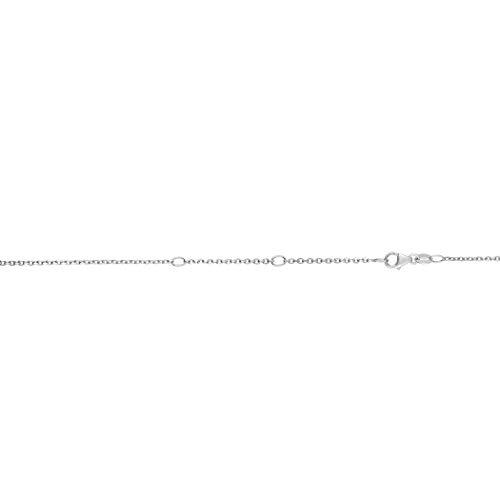 14ct weiß gold classic verstellbar Kabel Collection Halskette–46cm