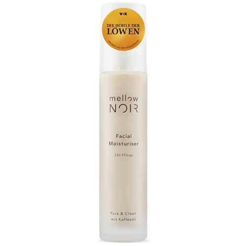mellow NOIR Facial Moisturizer | 24h Feuchtigkeit | vegan, klimaneutral & clean | 50 ml Gesichtscreme für Damen & Männer | zertifizierte Naturkosmetik Feuchtigkeitscreme für das Gesicht