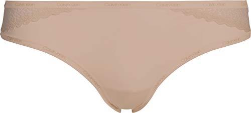 Calvin Klein Braguita Clásica-Flirty Ropa Interior, Almendra De Miel, S para Mujer
