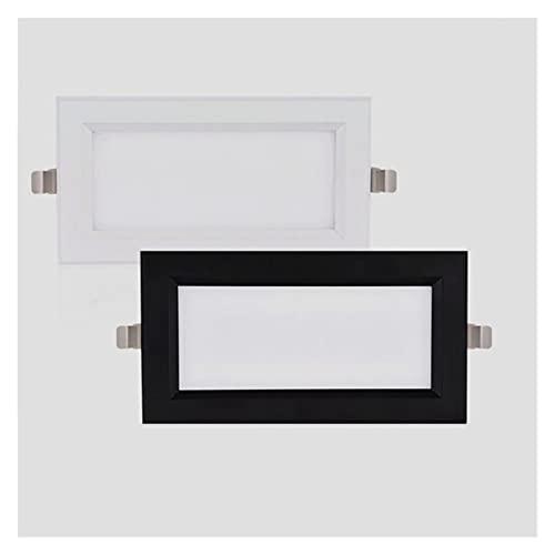 HSHHJSH Downlight/Focos Empotrados En El Techo Luces De Panel LED Regulables 12W 18W Focos De Techo LED AC110V-220V para Sala De Estar (Body Color : Blanc, Emitting Color : 3000K)