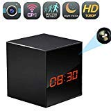 WiFi Hidden Clock Camera, Wireless Nanny Spy Cam with Alarm Clock, Night Vision, Motion Detection, App Control & Remote Viewing for Home/Office...