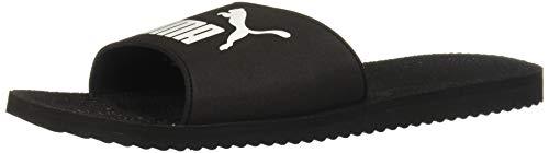Puma Purecat, Sliding Sandals Unisex Adulto, Black White, 39 EU