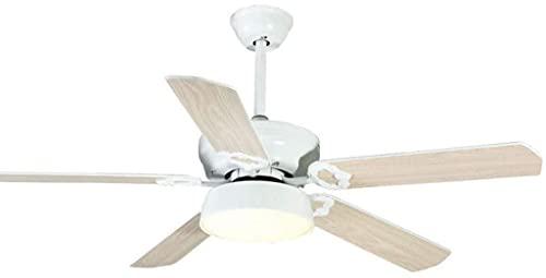 Techo Luz silenciosa del ventilador de 52 pulgadas estadounidense jardín de la luz del ventilador DIRIGIÓ Lámpara de tres colores de atenuación del hogar de la lámpara de techo ventilador interior del