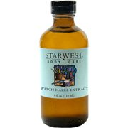 Witch Hazel Extract - Hamamelis virginiana, 4 oz,(Starwest Botanicals)