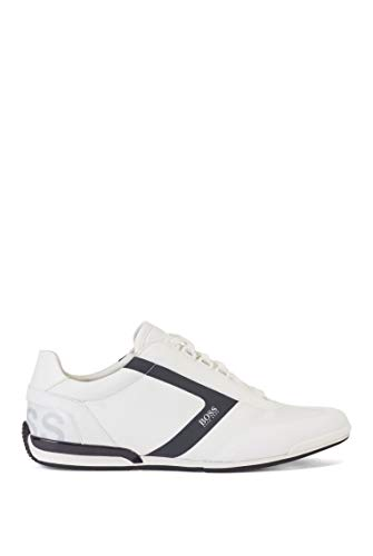 BOSS Saturn_Lowp_nyrs, Zapatillas Hombre, White100, 44 EU