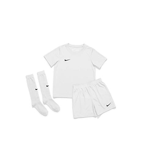 Nike Kinder Trikot Set Dry Park 20, White/White/Black, M, CD2244-100