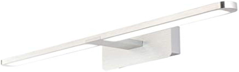 Spiegelfrontlicht, Spiegelleuchte, LED-Spiegelscheinwerfer, Badezimmer-Make-up-Licht, Spiegelschranklicht, wasserdicht und beschlagfrei, Ankleidetischlampe (Farbe   Weiß light-50cm)