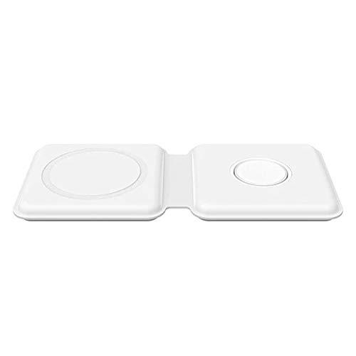 Mabor Plegable Magnético Cargador Inalámbrico Para iPhone 12 Imán Duo Carga 15W Rápida Recarga Con Enchufe