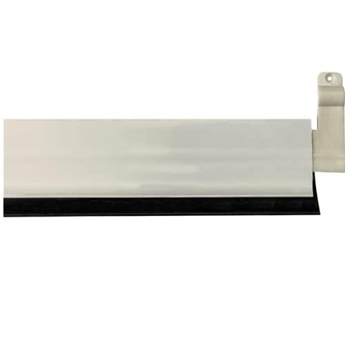 Tira aislante con labio de cucho .Burlete bajo puerta basculante de aluminio 93cm (Blanco) aislante de labio de caucho flexible, Instalación interior y exterior mediante tornillos a la placa base.