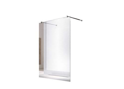 Glaszentrum Hagen - 10mm Duschwand - Duschabtrennung - Dusche - Walk-In Dusche - Fest & Freistehend - ESG - Variante (Freistehend-Klarglas (Halterung-Eckig), 148x200cm)