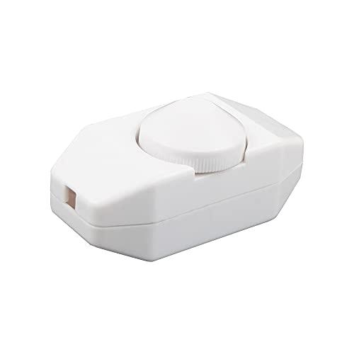 VIPMOON Interruptor y Dimmer Regulador de Intensidad/Atenuación de Luz LED, 220-240V, con Perilla, Regulable entre 3-100 Vatios con Ajuste Continuo, para Luces LED y Bombillas Regulables, CE, Blanco