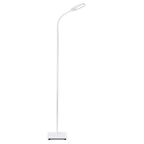 B.K.Licht LED Stehlampe weiß dimmbar I inkl. 8W 600lm LED Platine I Stehleuchte I 3000K - 6000K warmweiß - kaltweiß | memory & Touch Funktion