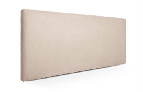 SUENOSZZZ-ESPECIALISTAS DEL DESCANSO Cabecero de Cama Liso tapizado en Tela para Camas de 90 (100 x 57 cm) Tela Beige