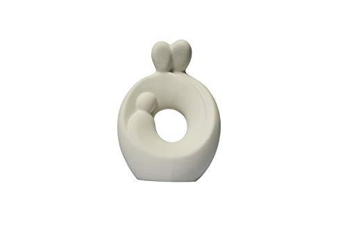 Lineasette, Nativité en grès porcelainé, crèche de Noël moderne, crèche en céramique, culture famille, produit artisanal fabriqué en Italie (lait)