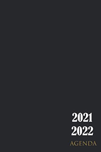 Agenda 2021 2022: settimanale A5 Maggio 2021 - Dicembre 2022 , Agenda 21 - 22 giornaliera , Organizator mensile per 2 Anni , Pianificatore, Calendario, Diario, nero