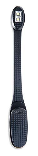 Flexilight Xtra Black - 2 LED Leselampe Buchleuchte: Mit 2 LEDs und extralangem Hals