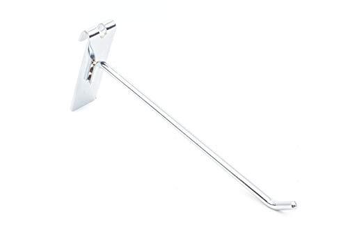 10x Gancho Soporte de Acero para Expositor de Malla y Reja   Longitud 35cm