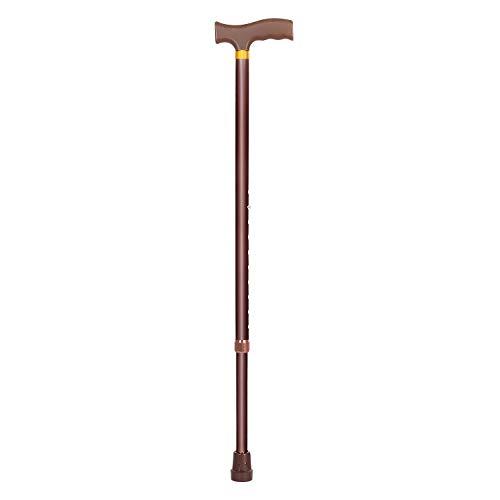 MCP Jindal Height Adjustable Walking Stick (Brown)