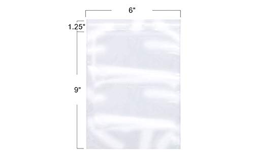 Pack of 100, 6 x 9 inch Clear Resealable Display Treat Bags Gift Basket Supplies, Self Adhesive Sealing Plastic Bags