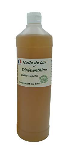 """Huile de Lin + térébenthine pour traiter le bois""""Française"""" 1L"""