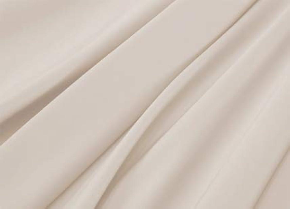 産地むちゃくちゃ野心的R.T. Home - エジプト高級超長綿ホテル品質 ボックスシーツ シングル サイズ(シングル ボックスシーツ) 500スレッドカウント サテン織り クリーム ベージュ (ボックス シーツ シングル 100*200*37CM)