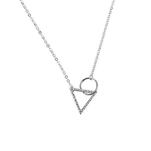 Colgante Anillo Geométrico Triángulo Equilátero Colgante Collar Mujer