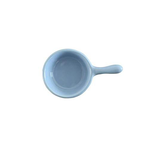 HUACHENG 1 PC Sazonador de cerámica CreativaPlato pequeño Polígono Redondo Cuadrado Estilo japonés Salsa de Color Plato de Salsa Plato de condimento, Azul