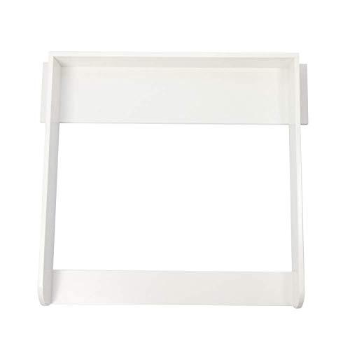 Puckdaddy Wickelaufsatz Knut – 90x75,4x10 cm, Wickelauflage aus Holz in Weiß, hochwertiger Wickeltischaufsatz passend für Kommoden, inkl. Montagematerial zur Wandbefestigung