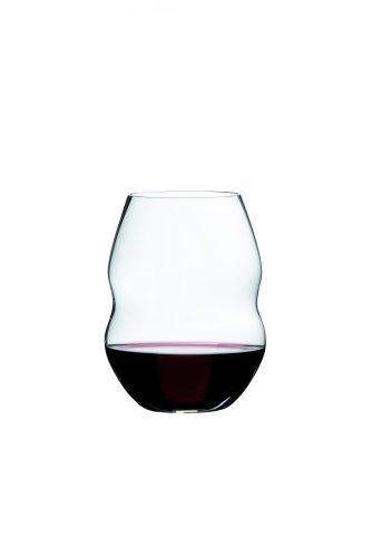 Riedel Swirl Rotwein, Rotweinglas, Weinglas, hochwertiges Glas, 580 ml, 2er Set, 0450/30