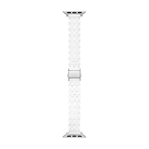 Kate Spade New York Women's Ceramic Apple Watch Band Strap 38mm 40mm Color: White (Model: KSS0075)