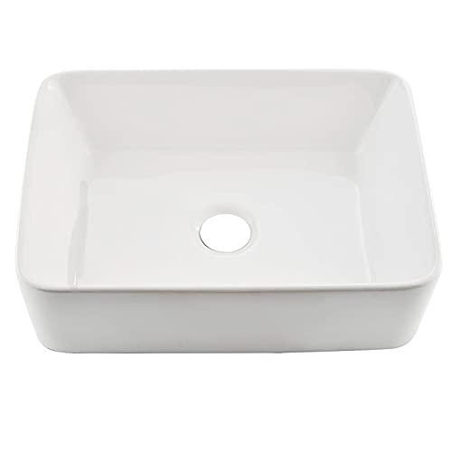 Comllen Counter White Porcelain Ceramic 18.9