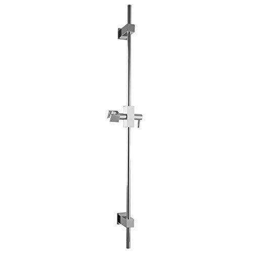 PaulGurkes Duschstange aus Metall Duschsäule Brausestange Aufputz Dusche Duschsäule Eckig Dusche aus Messing Bohrlöcher Variabel Halterung für Duschkopf Massiv