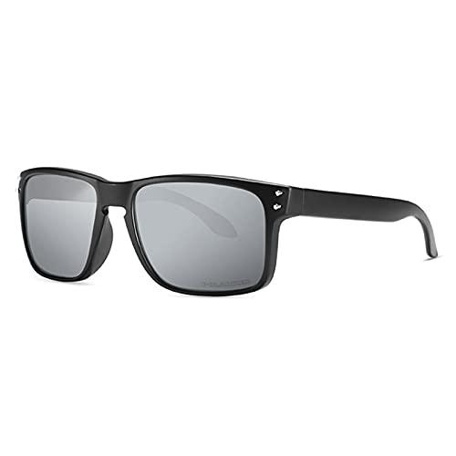Amethyst Gafas de Sol polarizadas, Marco liviano, protección UV400, es Adecuado para Comprar Gafas Deportivas de conducción de Pesca,Gris