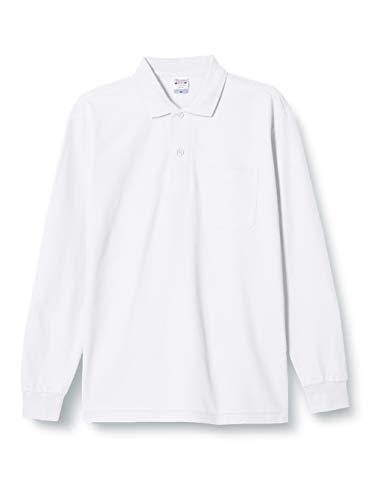 [プリントスター] 5.8オンス TC 鹿の子 長袖 ポロシャツ [ポケット付] 00169-VLP メンズ ホワイト L