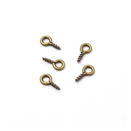 Mini Aguja Ocular Metal Tiny Ovejas Ojos Pines Shaets Tornillo Pendiente Roscado para Joyas Haciendo Pendientes DIY Impermeable y a Prueba de Herrumbre (Color : Bronze)