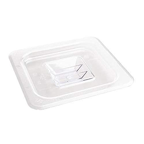Vogue Tapa de policarbonato U248 1/6 Gastronorm, 176 mm de Largo x 162 mm de Ancho, Transparente