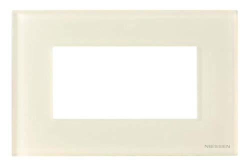 Niessen zenit - Marco 4 módulo caja americana serie zenit cristal blanco
