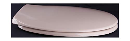 Grünblatt WC Sitz Klassik Design Toilettendeckel oval Klodeckel mit Quick-Release-Funktion und Geräuschlose Absenkautomatik, Hochwertige Antibakterielle Duroplast (Beige)