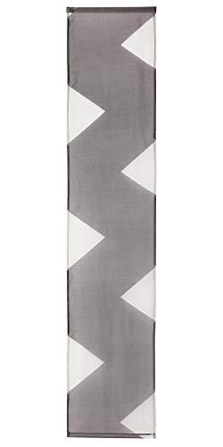 Meradiso Schiebegardine 2er Set mit Beschwerungsstange und Paneelwagen Grau