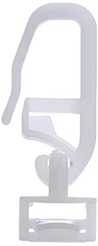 Gardinia 4979 - Ganci scorrevoli per tende, Plastica, Bianco, 20 unità