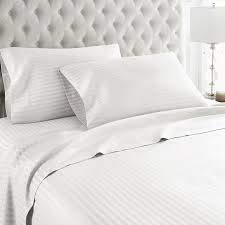 Dreamz Parure de lit 400 Ici Super Doux Coton Taies d'oreiller, Blanc, Body