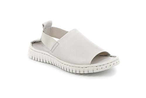 Grunland GIME, Sandalo da Donna in Pelle Premium, Perla, Woman, SA2538, Elastico (Numeric_38)